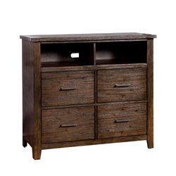 Furniture of America Bell 4 Drawer Media Chest in Espresso