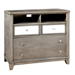 Lillianne Mirror Paneled Media Chest