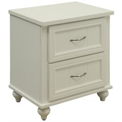 Furniture of America Elias 2 Drawer Nightstand in White