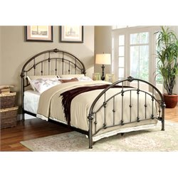 Furniture of America Niva Twin Metal Platform Bed in Brushed Bronze