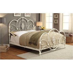 Furniture of America Stella Full Metal Platform Bed in White