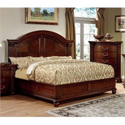 Furniture of America Sorella California King Panel Bed in Cherry