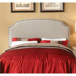 Furniture of America Davos Full Queen Upholstered Headboard in Beige
