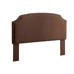 Furniture of America Davos Full Queen Upholstered Headboard in Brown