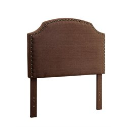 Furniture of America Davos Twin Upholstered Headboard in Brown