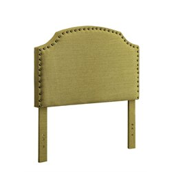 Furniture of America Davos Twin Upholstered Headboard in Lemongrass