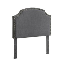 Furniture of America Davos Twin Upholstered Headboard in Gray