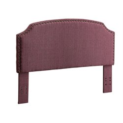 Furniture of America Davos Full Queen Upholstered Headboard in Purple