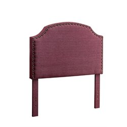 Furniture of America Davos Twin Upholstered Headboard in Purple