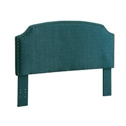 Furniture of America Davos Full Queen Upholstered Headboard in Teal