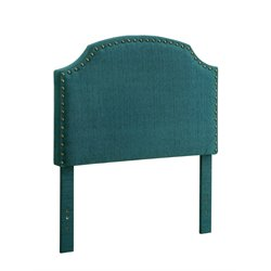 Furniture of America Davos Twin Upholstered Headboard in Dark Teal