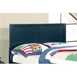 Furniture of America Geller Twin Kids Panel Headboard in Currant Blue