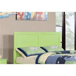 Furniture of America Geller Full Queen Kids Panel Headboard in Green