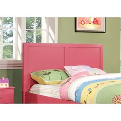 Furniture of America Geller Full Queen Kids Panel Headboard in Pink