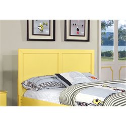 Furniture of America Geller Twin Kids Panel Headboard in Lemon Yellow