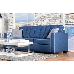 Tayson Tufted Linen Sofa