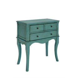 Furniture of America Jonah Vintage Console Table in Antique Teal