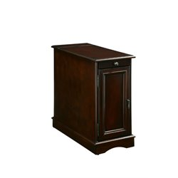 Furniture of America Daren I Storage End Table in Cherry