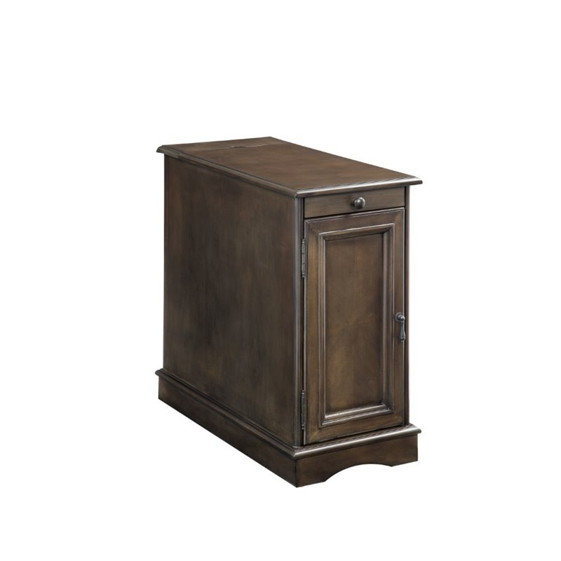 Furniture Of America Daren I Storage End Table In Gray