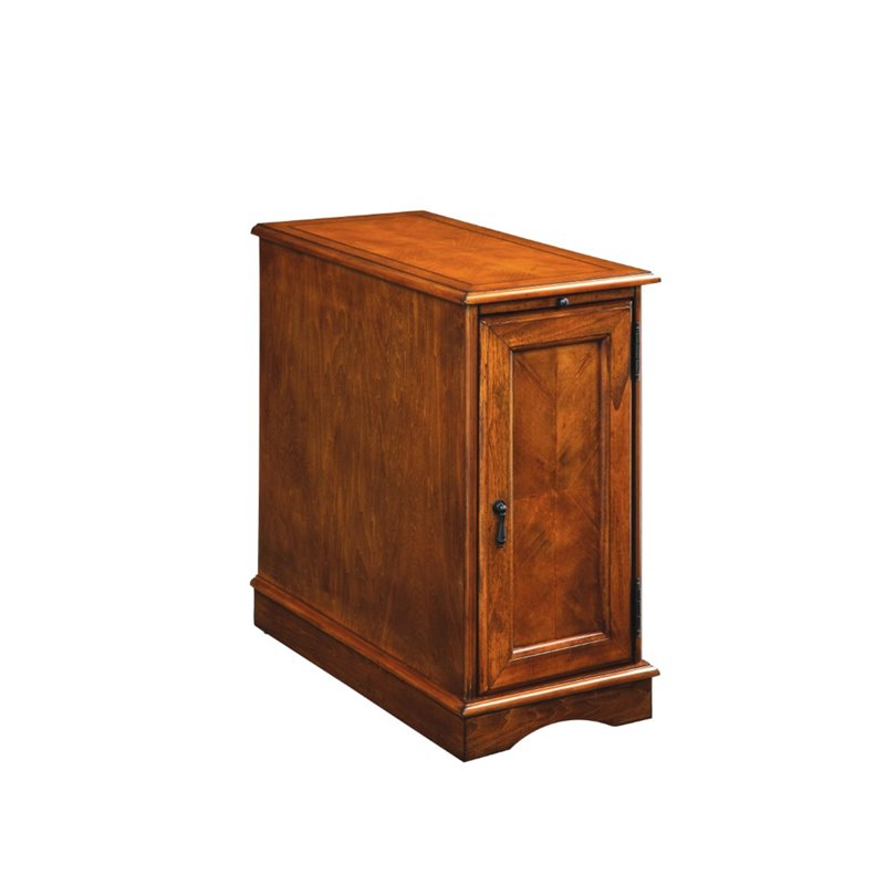 Furniture Of America Daren Ii Storage End Table In Oak