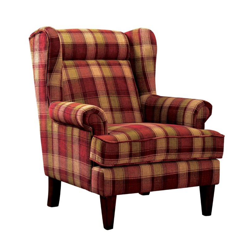 Furniture of america henry wingback accent chair in red idf ac6180rd - Essential accent furniture for your home ...