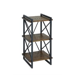 Furniture of America Linley I Square End Table in Weathered Oak