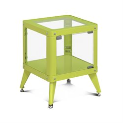 Furniture of America Elton Modern Metal Display Cabinet in Green