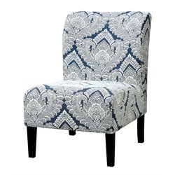 Furniture of America Sindy II Fabric Accent Chair in Blue