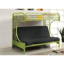 Furniture of America Capelli Metal Loft Bed in Green