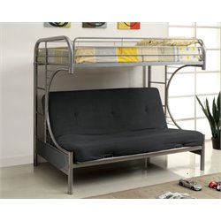 Furniture of America Capelli Metal Loft Bed in Silver