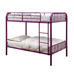 Capelli Twin over Twin Metal Bunk Bed