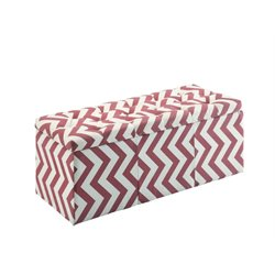 Furniture of America Laina Upholstered Storage Ottoman in Red