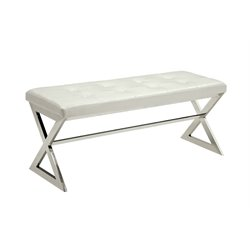 Apollo Tufted Faux Leather Bench