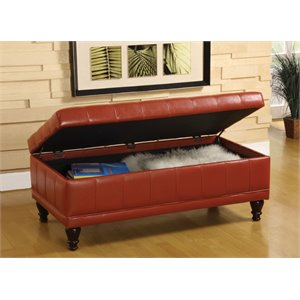Cameron Tufted Leather Storage Ottoman