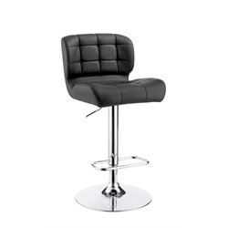Birch Adjustable Faux Leather Bar Stool