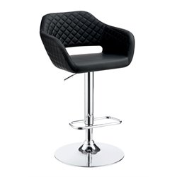 Vunley Adjustable Faux Leather Bar Stool