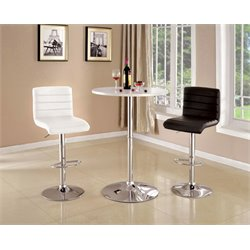 Furniture of America Luther Round Pub Table in White