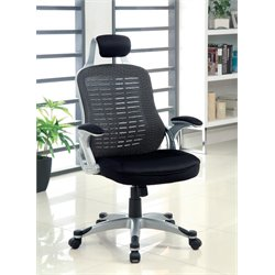 Furniture of America Panna Adjustable Mesh Office Chair in Black