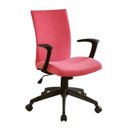 Furniture of America Nola Adjustable Office Chair in Red