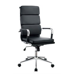Powers Adjustable Faux Leather Office Chair