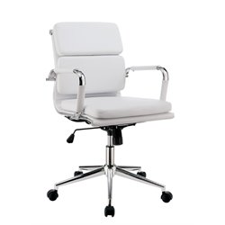 Furniture of America Powers Adjustable Faux Leather Office Chair