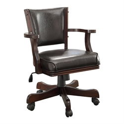 Furniture of America Matlock Adjustable Faux Leather Game Chair