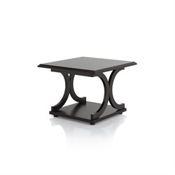 Furniture of America Dorans Square End Table in Cappuccino
