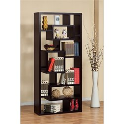 Furniture of America Hazo Modern Bookcase in Cappuccino