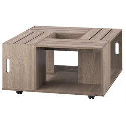 Furniture of America Tessa Square Coffee Table in Weathered Wood