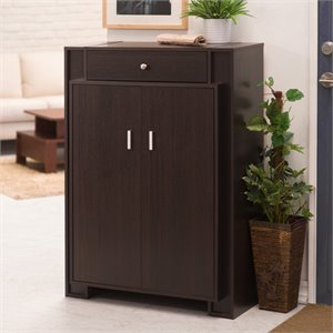 Furniture of America Gary Modern Shoe Cabinet in Espresso