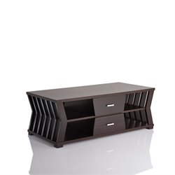 Furniture of America Vella Coffee Table in Cappuccino
