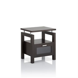 Furniture of America Tayler Storage End Table in Espresso