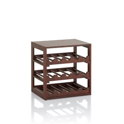 Furniture of America Keith Wine Rack in Vintage Walnut