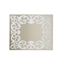 Furniture of America Queens Frosted Wall Mirror in Black